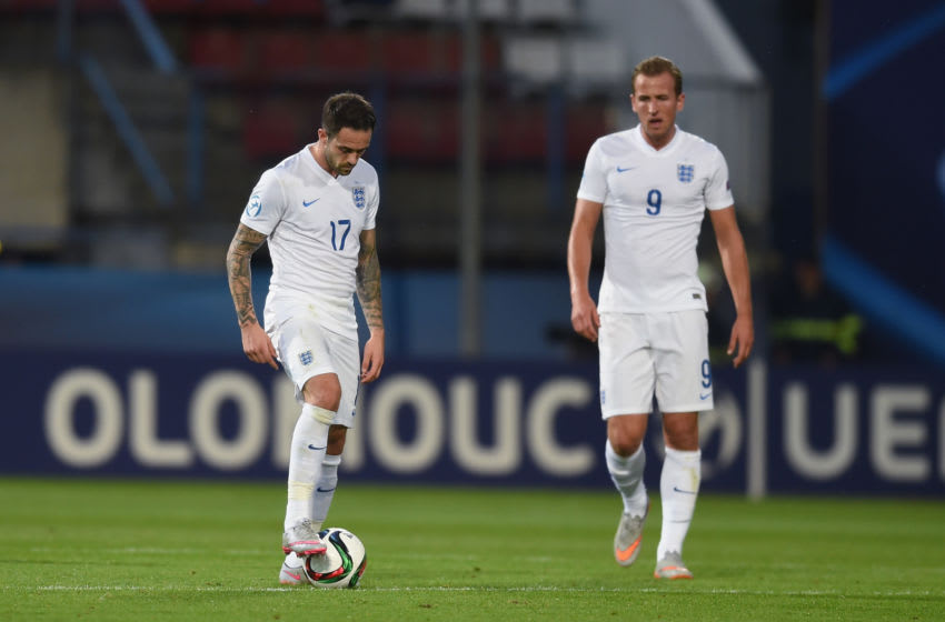 Danny Ings and Harry Kane (Photo by Michael Regan/Getty Images)