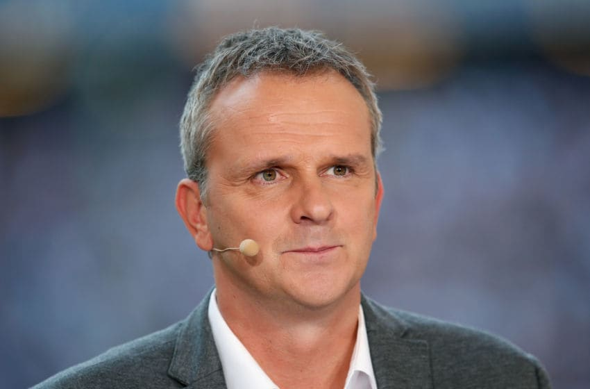 HAMBURG, GERMANY - AUGUST 22: Didi Hamann, former football player and Sky tv expert looks on prior to the Bundesliga match between Hamburger SV and VfB Stuttgart at Volksparkstadion on August 22, 2015 in Hamburg, Germany. (Photo by Boris Streubel/Getty Images)