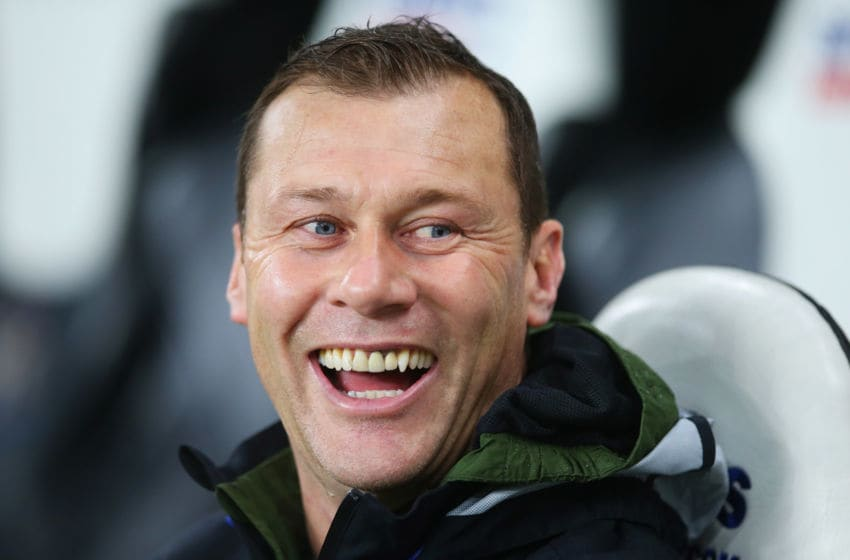 NEWCASTLE UPON TYNE, ENGLAND - DECEMBER 26: Everton coach Duncan Ferguson looks on prior to the Barclays Premier League match between Newcastle United and Everton at St James' Park on December 26, 2015 in Newcastle upon Tyne, England. (Photo by Ian MacNicol/Getty Images)