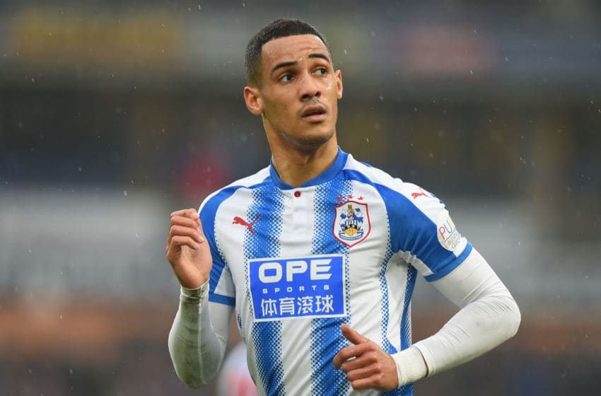 HUDDERSFIELD, ENGLAND - MARCH 10: Tom Ince of Huddersfield Town during the Premier League match between Huddersfield Town and Swansea City at John Smith's Stadium on March 10, 2018 in Huddersfield, England. (Photo by Tony Marshall/Getty Images)