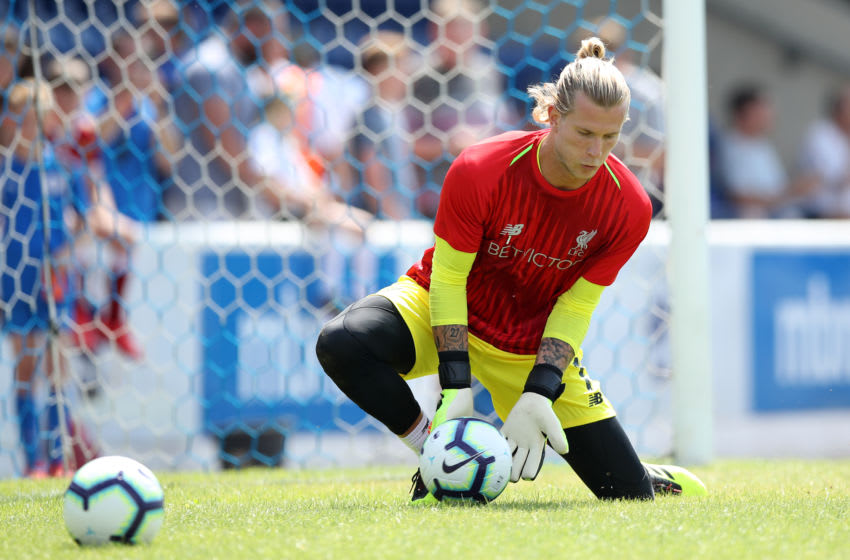 CHESTER, ENGLAND - JULY 07: Loris Karius of Liverpool during the Pre-season friendly between Chester FC and Liverpool on July 7, 2018 in Chester, United Kingdom. (Photo by Lynne Cameron/Getty Images)