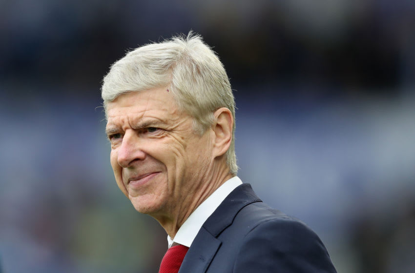 BRIGHTON, ENGLAND - MARCH 04: Manager Arsene Wenger of Arsenal smiles during the Premier League match between Brighton and Hove Albion and Arsenal at Amex Stadium on March 4, 2018 in Brighton, England. (Photo by Christopher Lee/Getty Images)