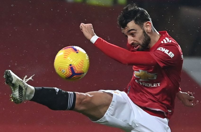 Manchester United's Portuguese midfielder Bruno Fernandes (Photo by LAURENCE GRIFFITHS/POOL/AFP via Getty Images)