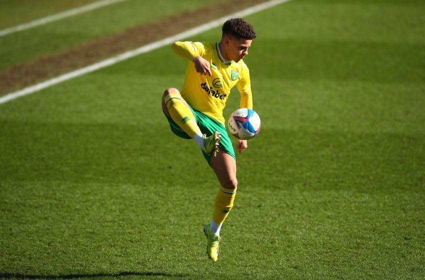 Max Aarons of Norwich City (Photo by Marc Atkins/Getty Images)