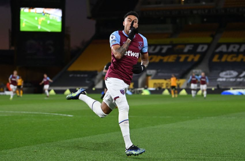 West Ham United's English midfielder Jesse Lingard (Photo by LAURENCE GRIFFITHS/POOL/AFP via Getty Images)