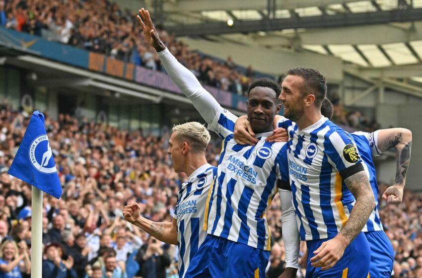 Brighton's striker Danny Welbeck (Photo by GLYN KIRK/AFP via Getty Images)