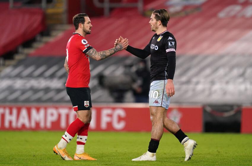 Danny Ings of Southampton and Jack Grealish of Aston Villa (Photo by John Walton - Pool/Getty Images)