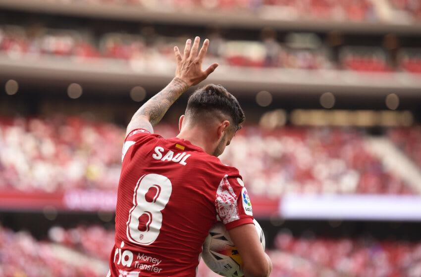 Saul Niguez of Atletico de Madrid (Photo by Denis Doyle/Getty Images)