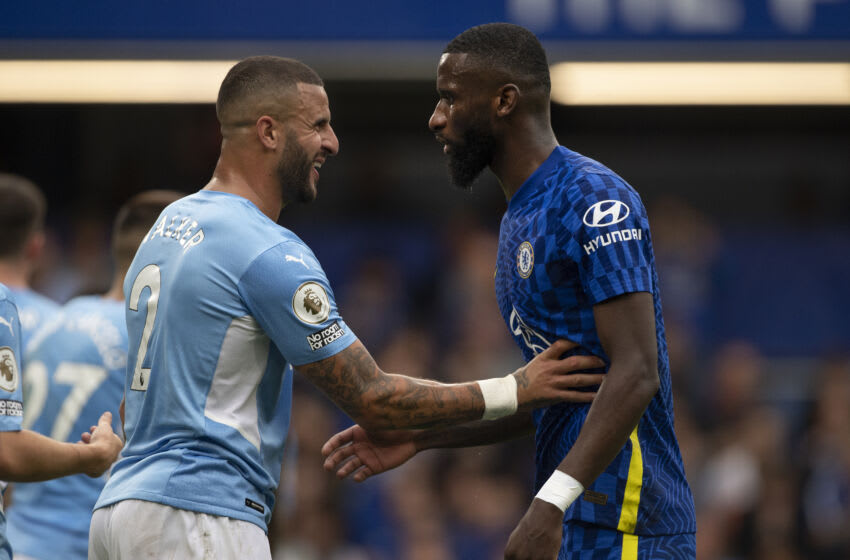 Antonio Rüdiger of Chelsea and Kyle Walker of Manchester City (Photo by Visionhaus/Getty Images)