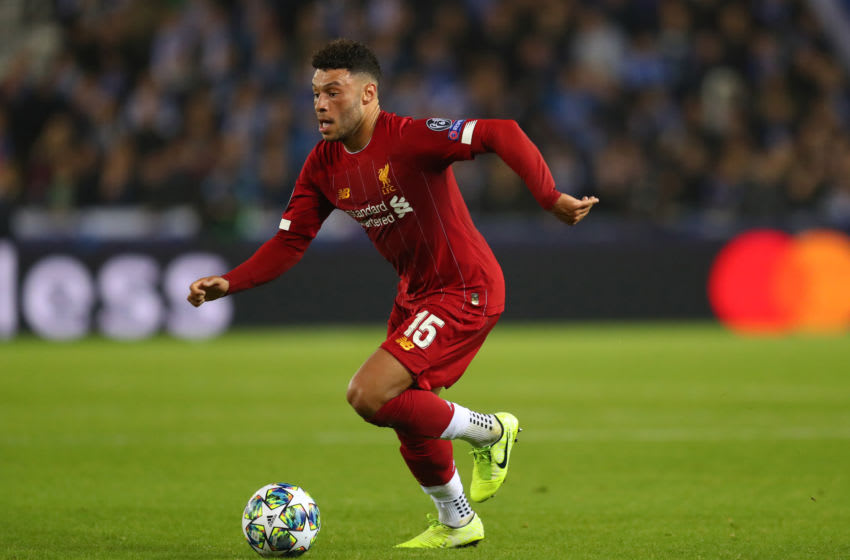 GENK, BELGIUM - OCTOBER 23: Alex Oxlade-Chamberlain of Liverpool during the UEFA Champions League group E match between KRC Genk and Liverpool FC at Luminus Arena on October 23, 2019 in Genk, Belgium. (Photo by Catherine Ivill/Getty Images)