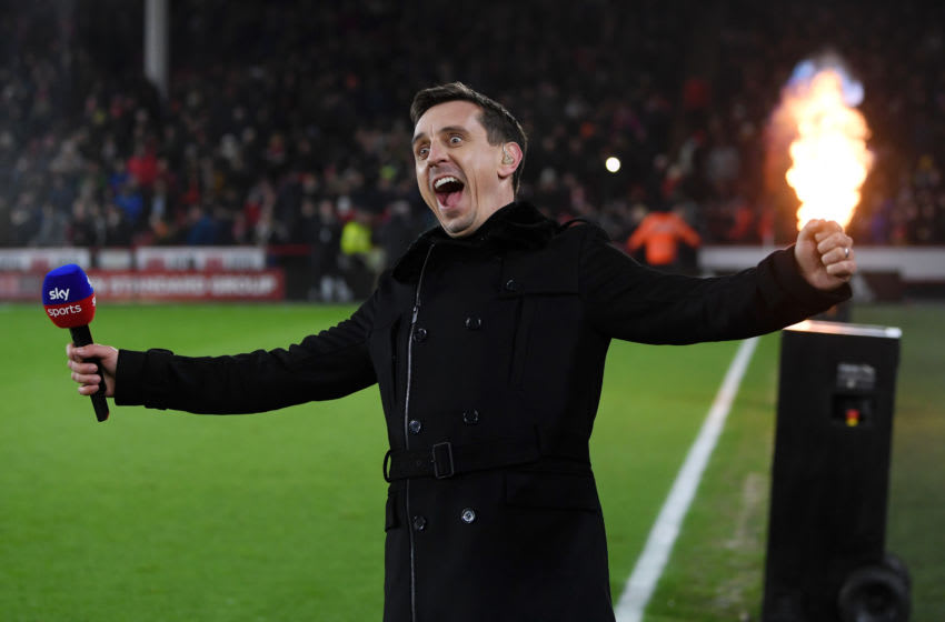 Sky Sports presenter Gary Neville (Photo by Michael Regan/Getty Images)