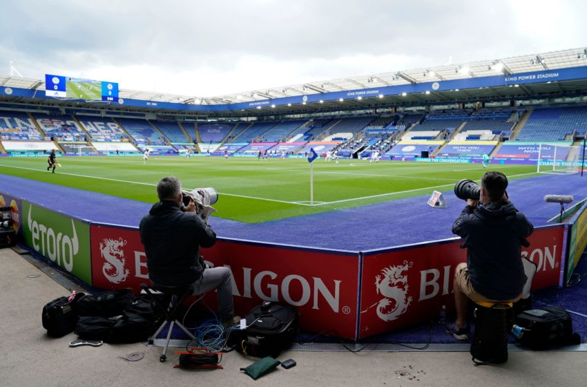 Leicester City, King Power Stadium (Photo by TIM KEETON/POOL/AFP via Getty Images)