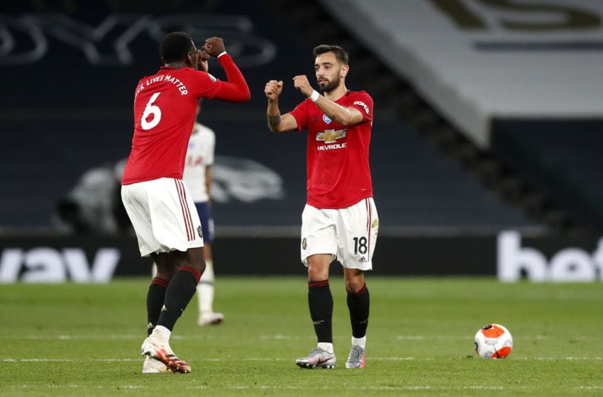 Bruno Fernandes, Paul Pogba, Manchester United (Photo by Matt Childs/ Pool via Getty Images)