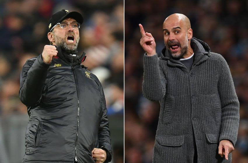 Liverpool, Jurgen Klopp , Manchester City, Pep Guardiola (Photo by Christof STACHE and Paul ELLIS / AFP)