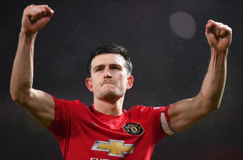 Harry Maguire, Manchester United captain. (Photo by Laurence Griffiths/Getty Images)