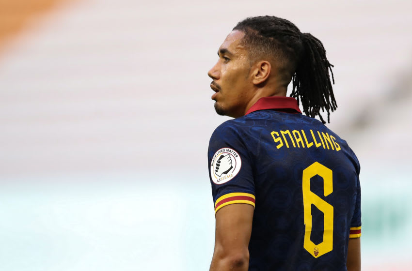 Chris Smalling, during loan spell at AS Roma from Manchester United. (Photo by Jonathan Moscrop/Getty Images)