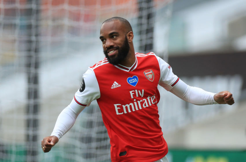 Alexandre Lacazette of Arsenal (Photo by Mike Egerton/Pool via Getty Images)