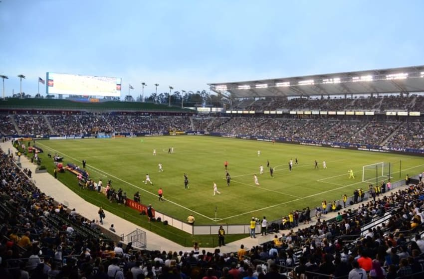 Jun 2, 2016; Carson, CA, USA; A general view of the match between Sporting Kansas City and Los Angeles Galaxy at StubHub Center. The teams played to a 0-0 tie. Mandatory Credit: Kirby Lee-USA TODAY Sports
