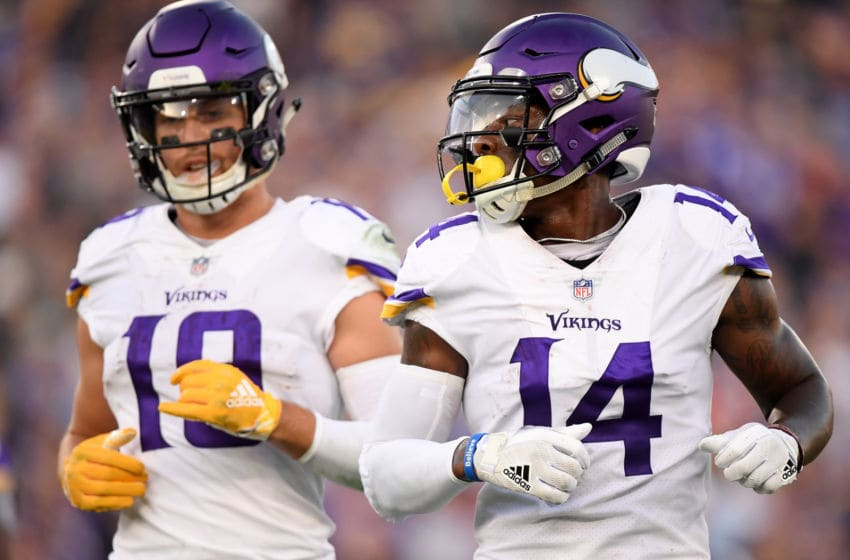 (Photo by Harry How/Getty Images) Stefon Diggs and Adam Thielen