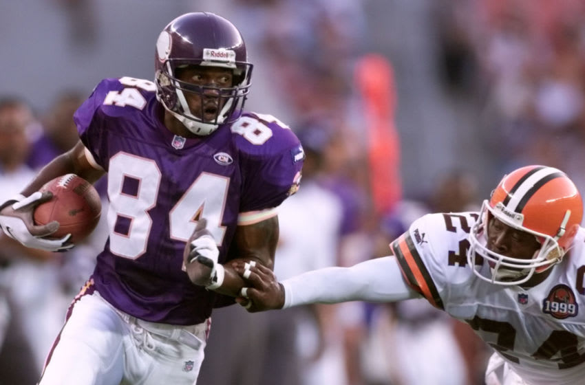 (Photo By JERRY HOLT/Star Tribune via Getty Images) Randy Moss