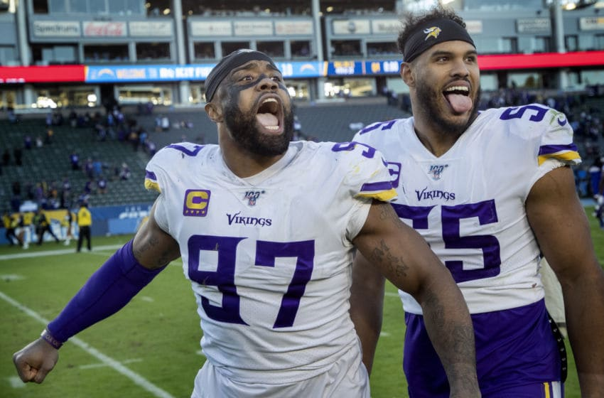 (Photo by Carlos Gonzalez/Star Tribune via Getty Images) Everson Griffen and Anthony Barr