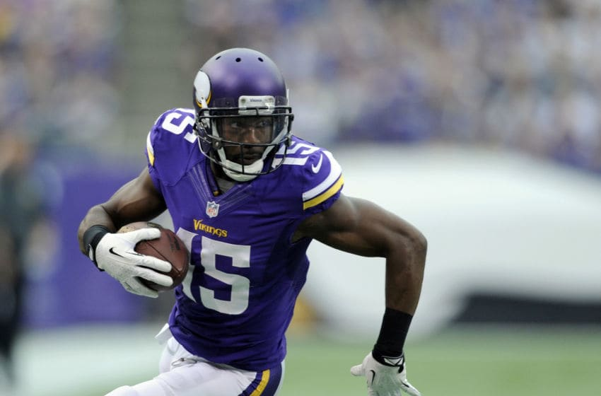 Greg Jennings, Minnesota Vikings. (Photo by Hannah Foslien/Getty Images)