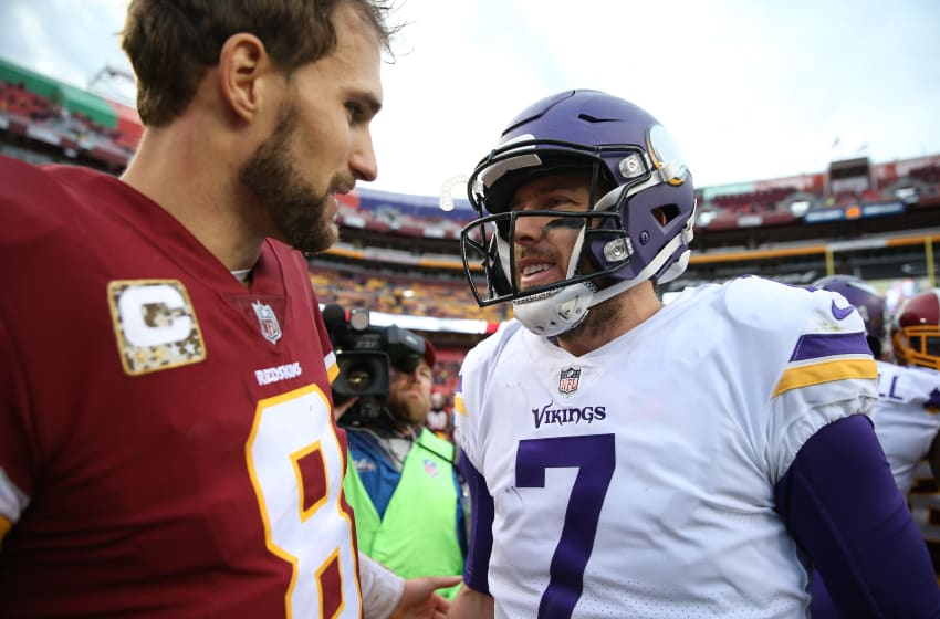 (Photo by Patrick Smith/Getty Images) Kirk Cousins and Case Keenum