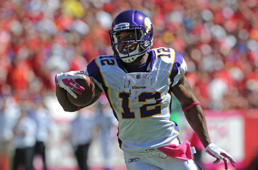 (Photo by Peter G. Aiken/Getty Images) Percy Harvin
