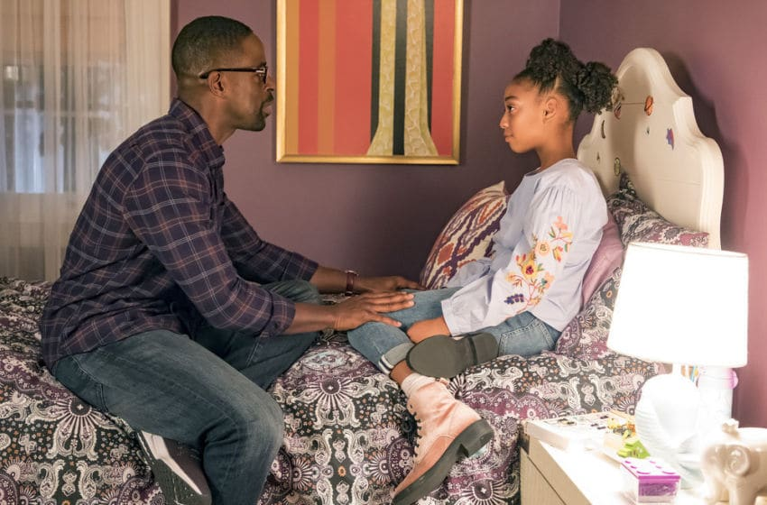 THIS IS US -- Episode 214 -- Pictured: (l-r) Sterling K. Brown as Randall, Eris Baker as Tess -- (Photo by: Ron Batzdorff/NBC)