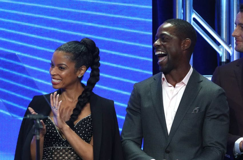BEVERLY HILLS, CA - AUGUST 05: Actors Susan Kelechi Watson (L) and Sterling K. Brown accept the award for 'Outstanding New Program' for 'This Is Us' onstage at the 33rd Annual Television Critics Association Awards during the 2017 Summer TCA Tour at The Beverly Hilton Hotel on August 5, 2017 in Beverly Hills, California. (Photo by Frederick M. Brown/Getty Images)