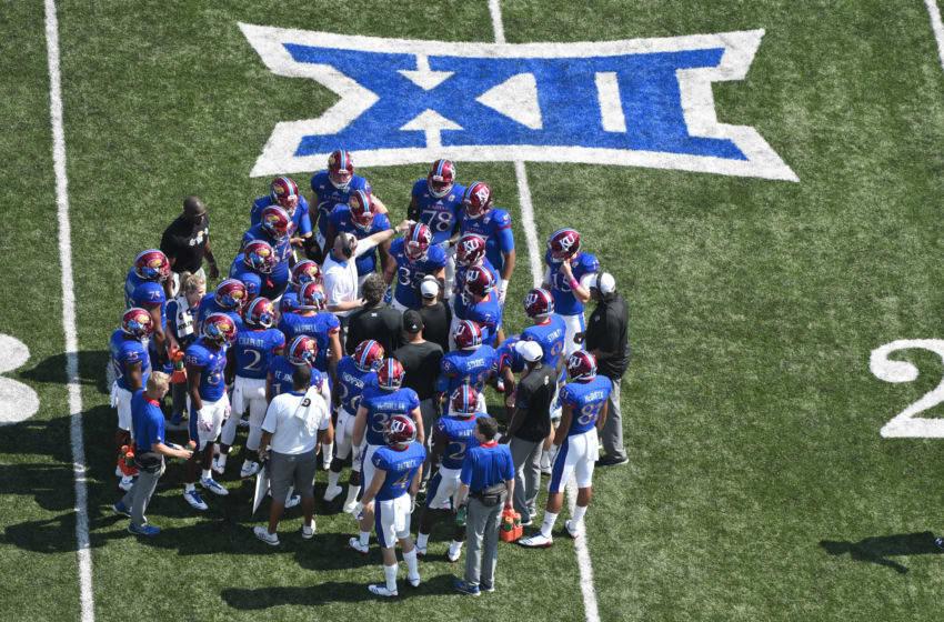 Kansas football (Photo by Ed Zurga/Getty Images) *** Local Caption ***