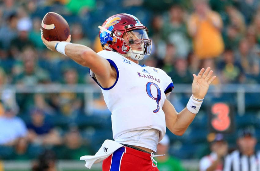 Kansas football WACO, TX - OCTOBER 15: Carter Stanley