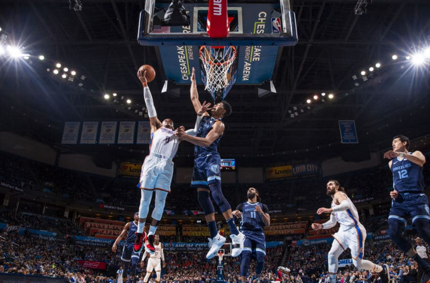 Russell Westbrook. OKC Thunder (Photo by Zach Beeker/NBAE via Getty Images)