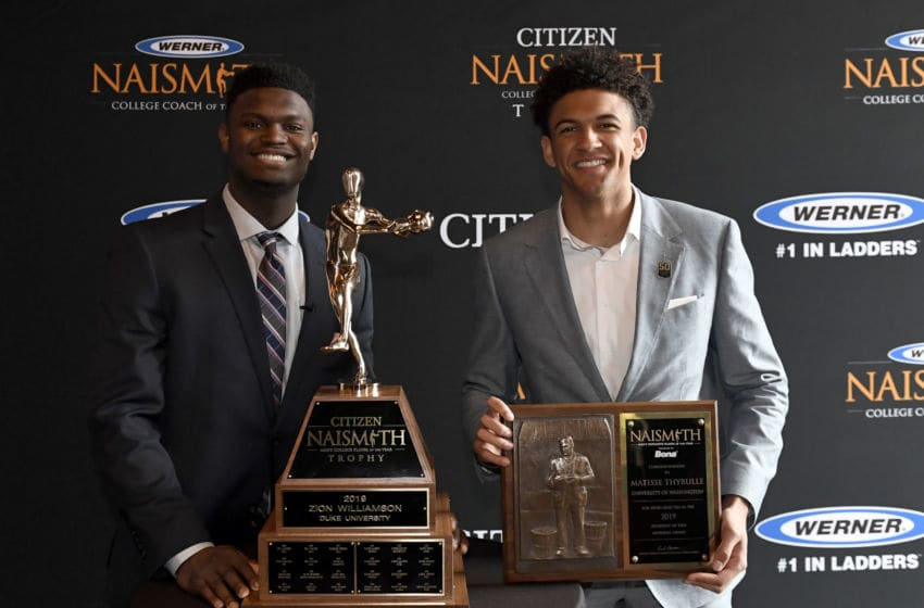 2019 Bona Naismith Defensive Player of the Year Matisse Thybulle of the Washington Huskies (Photo by Hannah Foslien/Getty Images)