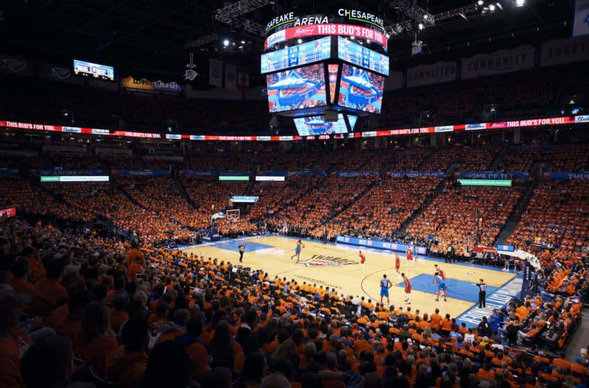 An overview of Chesapeake Energy Arena , OKC Thunder. (Photo by Cooper Neill/Getty Images)