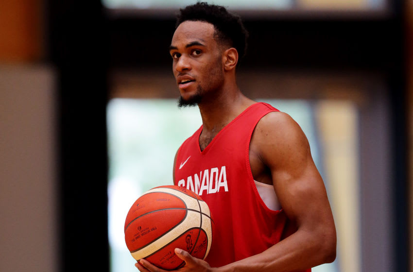 OKC Thunder - Shai Gilgeous-Alexander will have to wait to represent his country: Oshae Brissett looks on during a Canada national basketball match (Photo by Will Russell/Getty Images)