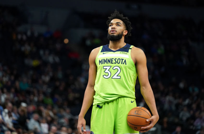 OKC Thunder, NBA Power Rankings Week 14: Karl-Anthony Towns #32 of the Minnesota Timberwolves shoots free throws against the OKC Thunder (Photo by Jordan Johnson/NBAE via Getty Images)