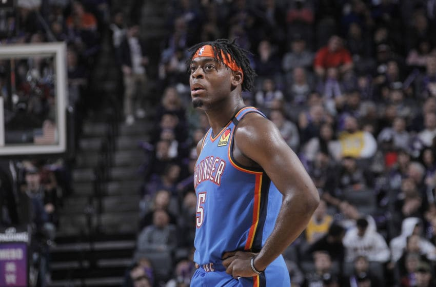 OKC Thunder, Power Ranking W15: Luguentz Dort #5 of the OKC Thunder looks on during the game against the Sacramento Kings (Photo by Rocky Widner/NBAE via Getty Images)