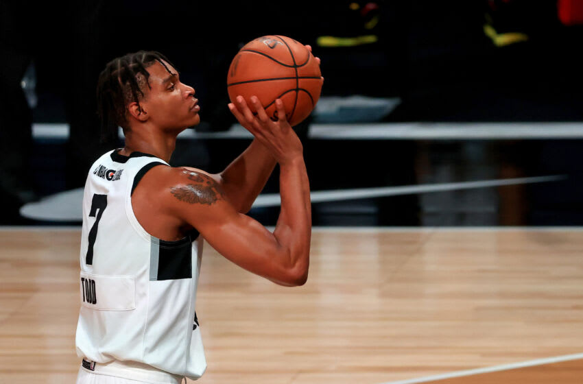 LAKE BUENA VISTA, FLORIDA - FEBRUARY 18: Isiah Todd #7 of the G League Ignite OKC Thunder Draft Target (Photo by Mike Ehrmann/Getty Images) NOTE TO USER: User expressly acknowledges and agrees that, by downloading and or using this photograph, User is consenting to the terms and conditions of the Getty Images License Agreement.