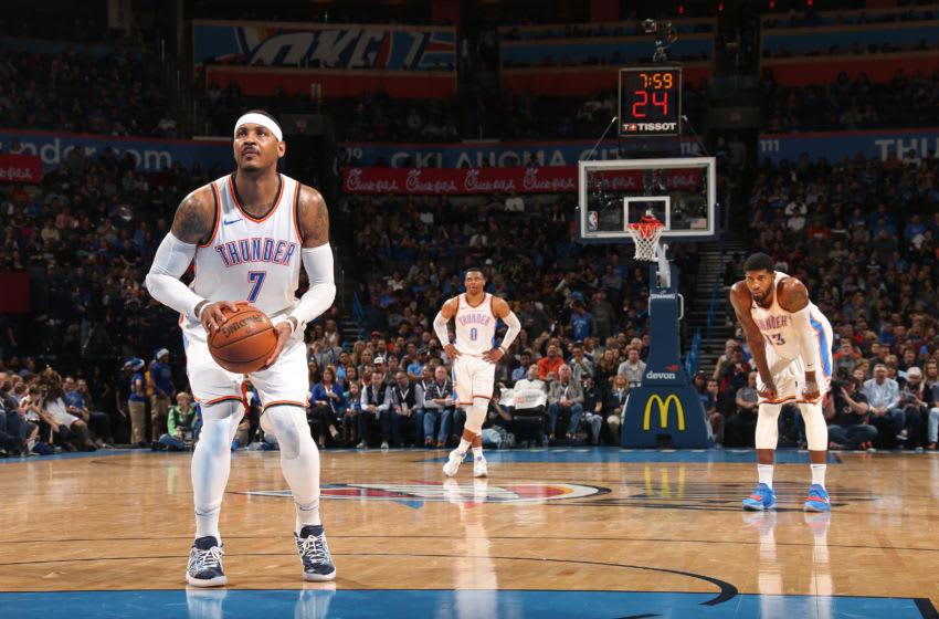 OKLAHOMA CITY, OK - DECEMBER 20: Carmelo Anthony