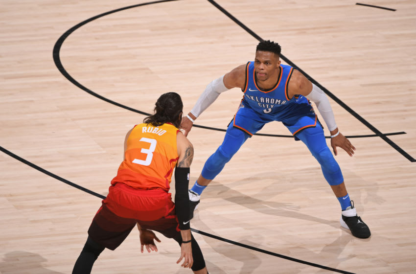 SALT LAKE CITY, UT - APRIL 21: Russell Westbrook
