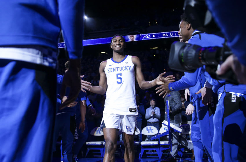 OKC Thunder: Draft prospect Immanuel Quickley #5 of the Kentucky Wildcats. (Photo by Silas Walker/Getty Images)