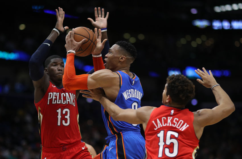 Russell Westbrook. OKC Thunder (Photo by Chris Graythen/Getty Images)