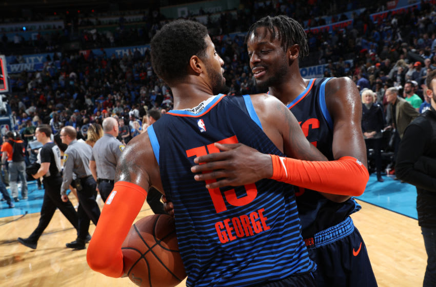 Paul George, Jerami Grant, OKC Thunder (Photo by Zach Beeker/NBAE via Getty Images)