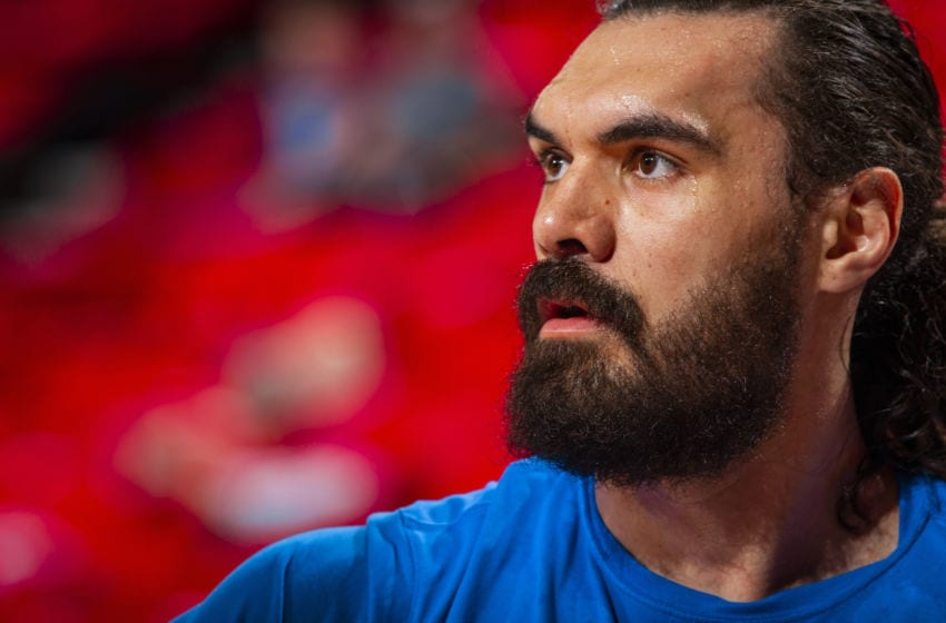 OKC Thunder center Steven Adams looks forward to his future (Photo by Zach Beeker/NBAE via Getty Images)