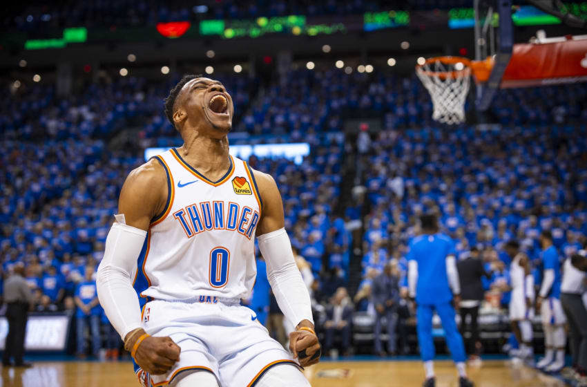 Russell Westbrook, OKC Thunder (Photo by Zach Beeker/NBAE via Getty Images)
