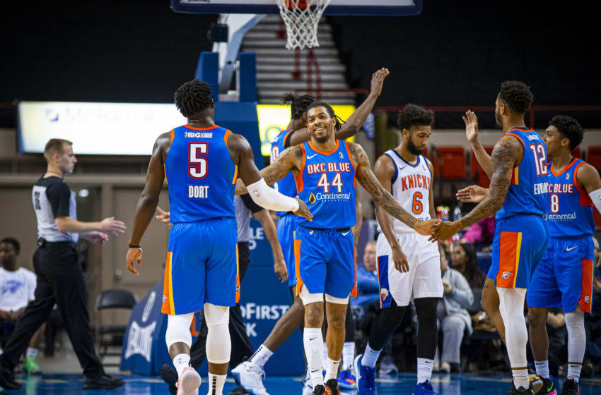 DeVaughn Akoon-Purcell #44 of the OKC Thunder affiliate OKC Blue (Photo by Zach Beeker/NBAE via Getty Images)