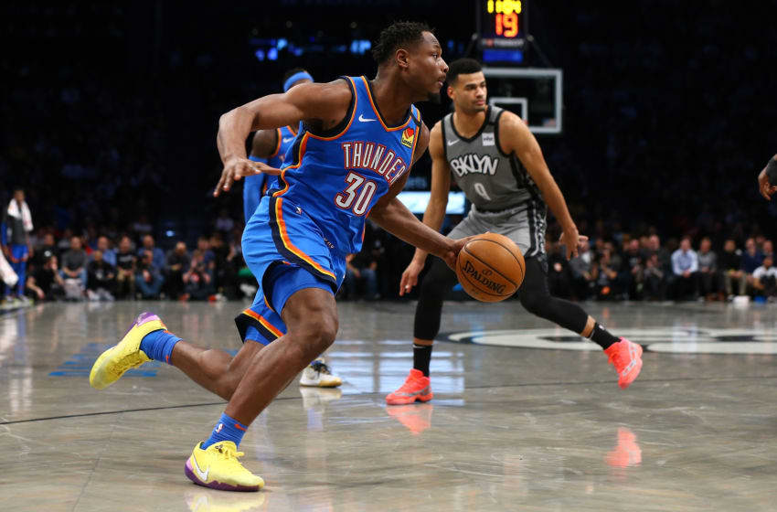 JANUARY 07: Deonte Burton #30 of the OKC Thunder in action against the Brooklyn Nets (Photo by Mike Stobe/Getty Images)