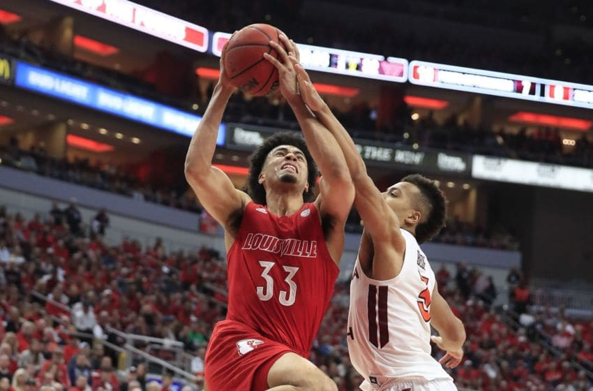 Jordan Nwora #33 of the Louisville Cardinals (Photo by Andy Lyons/Getty Images)