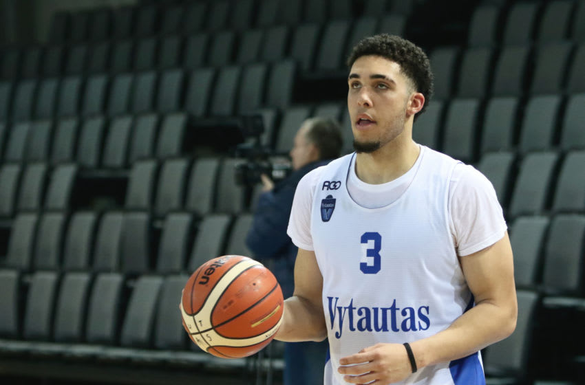 LiAngelo Ball (Photo credit should read PETRAS MALUKAS/AFP via Getty Images)